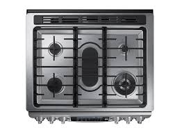 Italian Cooktop 5 8 Cu Ft Slide In Gas Range With True Convection Ranges