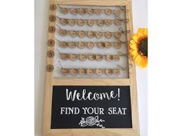 diy wedding seating chart tutorial using a 10 frame hall occasions