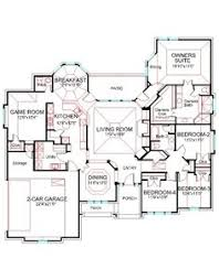one story floor plans house plan 2718 141 traditional front elevation 2718 sqft one