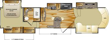 fifth wheel floor plans front living room inspirational home