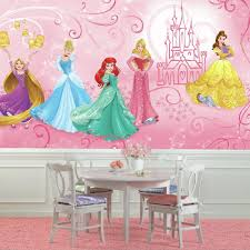 roommates 72 in w x 126 in h disney princess enchanted xl chair h disney princess enchanted xl chair rail 7 panel prepasted wall mural jl1388m the home depot