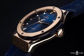 blue titanium bracelet hublot images Hublot classic fusion king gold blue hands on review jpg