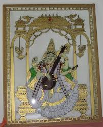 how to do a tanjore glass painting