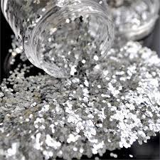 aliexpress com buy bling silver color 1mm hexagonal acrylic