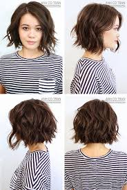 back viewof short shag hairdstyles anh co tran bob front left side right side and back view