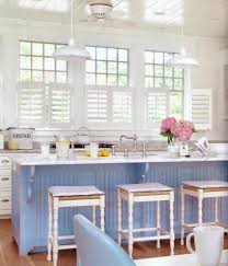 Coastal Kitchens - beach house furniture all about design kitchen teal cabis on