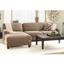 Sofa With Chaise Slipcover Stretch Pique Sectional With Side Chaise Cover At Brookstone U2014buy Now