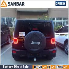 led lights for jeep wrangler abs led tail lights integrated rear turn signal lights for jeep