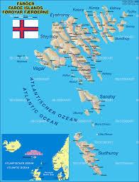 map of faroe islands denmark map in the atlas of the world