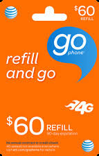 go prepaid card at t att refill card top up pin prepaid refill wireless monthly ebay