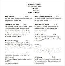 microsoft word menu templates microsoft word menu templates
