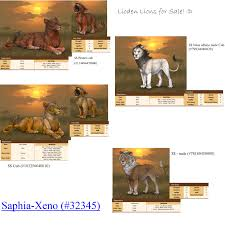lions for sale lioden lions for sale by saphia xeno adopts on deviantart