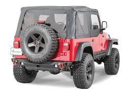 offroad jeep cj jcr offroad swbrc2 mid width crusader rear bumper for 76 06 jeep