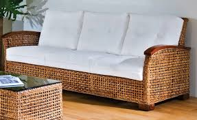 Wicker Patio Furniture Cushions Replacement - clear varnished wicker rattan couch with arnrest using white