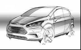 astounding black and white car sketches with max and ruby coloring
