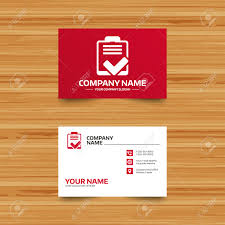 business card template checklist sign icon control list symbol