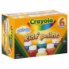 washable paint for walls crayola kids u0027 paint washable assorted colors 6 2 fl oz 59 ml