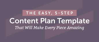 the easy 5 step content plan template to make every piece amazing