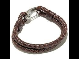 men braided leather bracelet images Men 39 s stainless steel double braided leather bracelet jpg