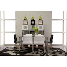 napoli black rect table u0026 4 chairs