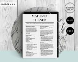 Resume Template For Pages Carry Jackson Modern 2 Page Fancy Resume Cover Letter