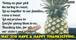 our brothers and thanksgiving poem