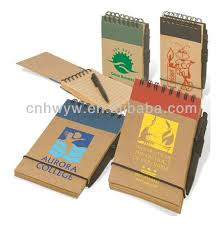 classmate notepad paper cover material and printed recycled eco friendly notebook