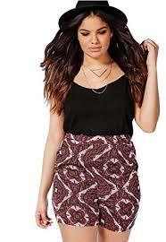 fashion bug women plus size shorts womens plus size ethnic print