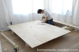 Plans Building Platform Bed Storage by Homemade Modern Ep89 Platform Bed