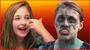 easy zombie makeup tutorial for kids by kids halloween shopping