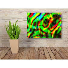 buy green abstract wall art canvas for home decor online india