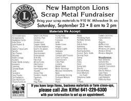 new hampton lions scrap metal fundraiser u2013 951 the bull