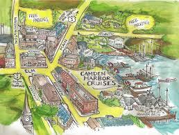 map of camden maine camden harbor cruises contact us