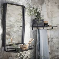 bedroom mirrors notonthehighstreet com large industrial wall mirror with mini shelf mirrors