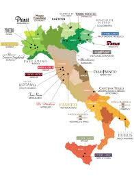 Italy Wine Regions Map by Enotec Imports Inc Italian Wine Importer