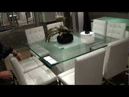 Square Glass Dining Table Cubus Square Modern Pedestal Dining Table By International