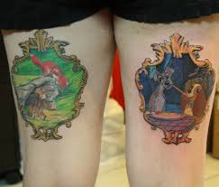 fox and the hound and lady and the tramp framed tattoos tattoos