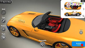 game design your own car create your own sport car cartoon cars cars race for kids