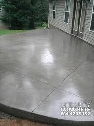 gray concrete patio with diamond pattern traditional patio
