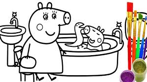 coloring pages peppa the pig peppa pig coloring page with wallpaper dual monitor