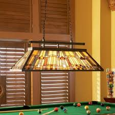 light over pool table pool table lights you ll love wayfair