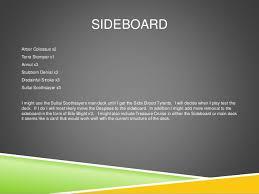 Mtg Sideboard Magic The Gathering Deck Idea