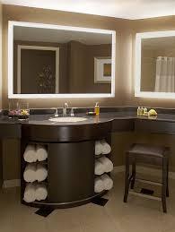 backlit bathroom mirror featured in the foxwoods resort u0026 casino