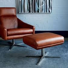 Leather Swivel Armchairs Austin Leather Swivel Armchair Armchairs Ottomans And Living Rooms