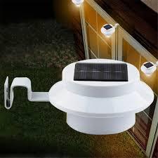 Outdoor Solar Panel Lights - lionel outdoor solar powered 3 led security landscape garden