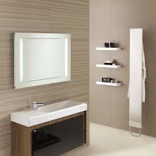 Bathroom Mirror Ideas by Minimalist Cherry Wooden Cabinet Drawers Metal Chrome Mirror