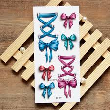 tattoo home decor silk bow 3d temporary tattoo body art flash tattoo stickers
