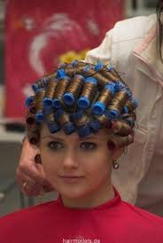 husband forced to sleep in hair rollers 89 best perm images on pinterest curl formers razor cut bob and