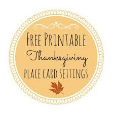 thanksgiving free printable series place card settings fox