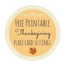 thanksgiving free printable series place card settings fox
